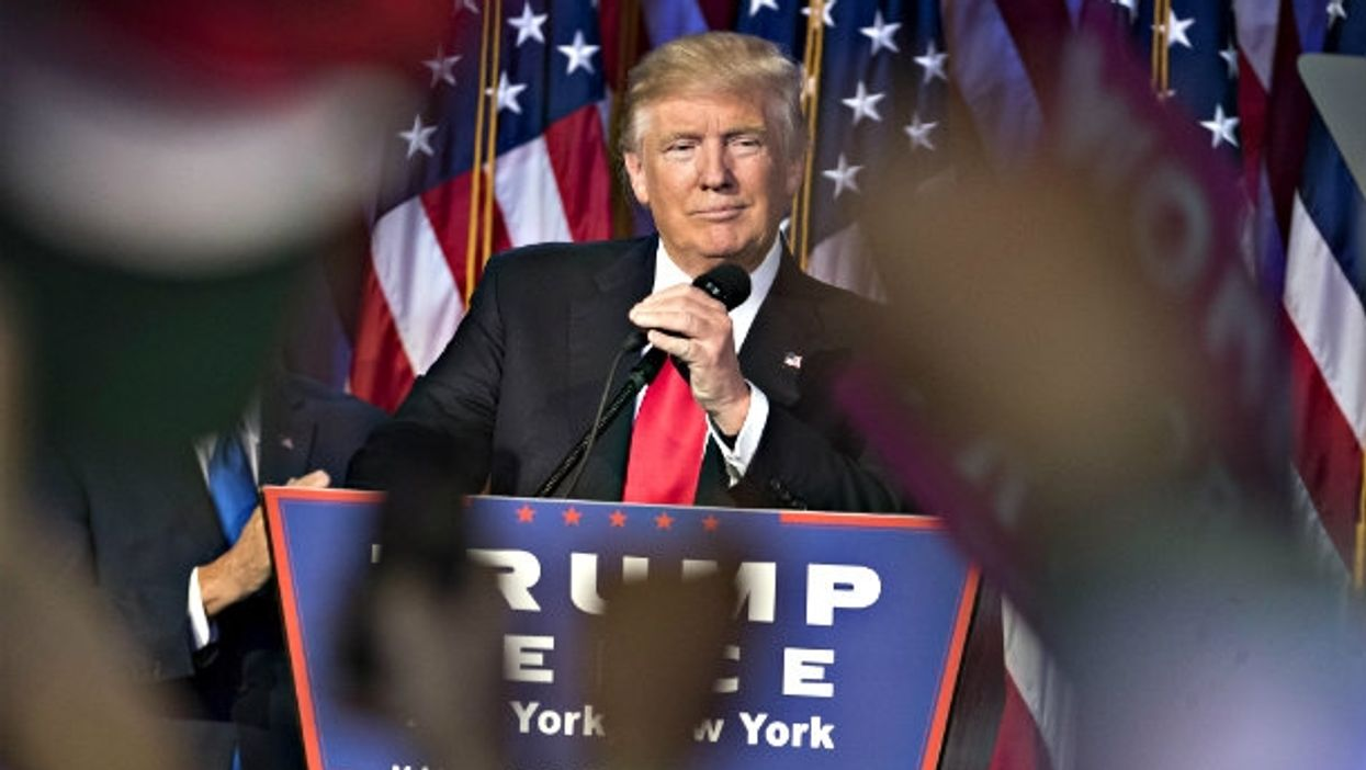 Trump speaks to supporters early Wednesday after his victory