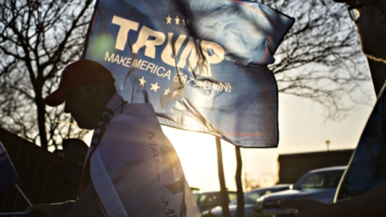 Trump supporter in Fayetteville, NC on March 9