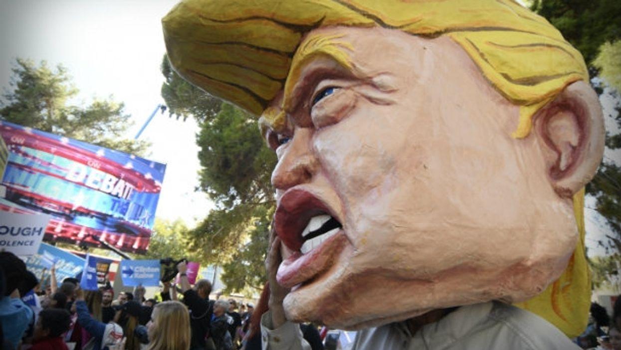 Trumping before Wednesday night's debate in Las Vegas