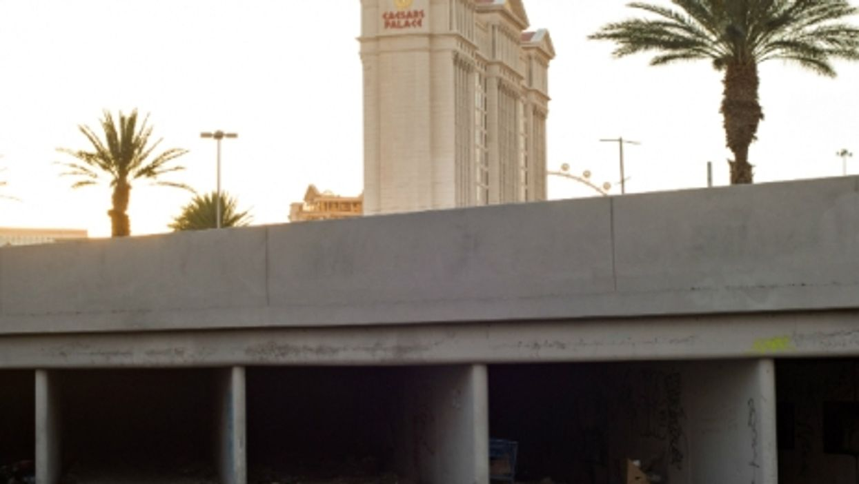 Tunnels beneath Las Vegas house the city's homeless