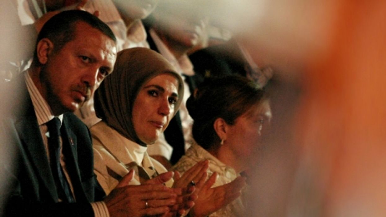 Turkish President Recep Tayyip Erdogan and his wife Emine in Istanbul