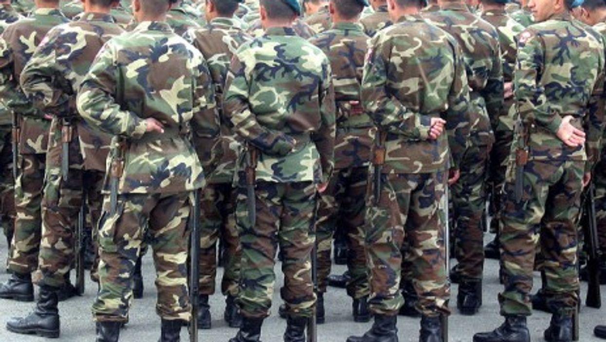 Turkish soldiers in Ankara
