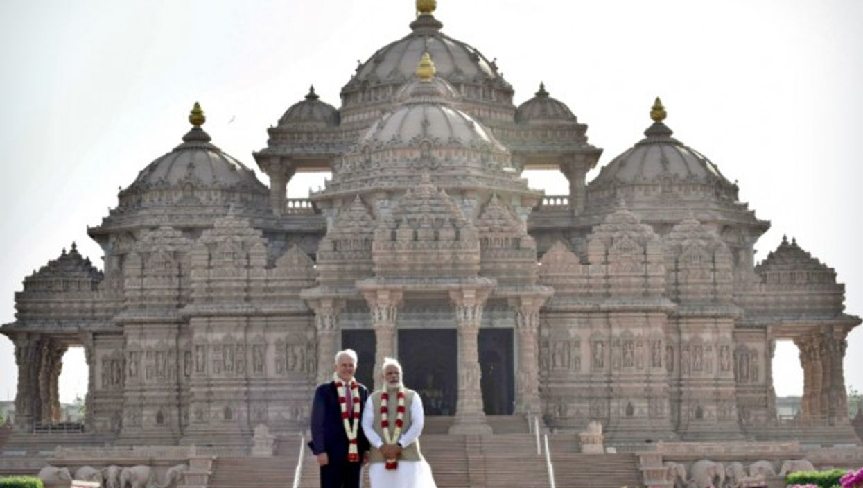 Turnbull and Modi in New Delhi on April 10