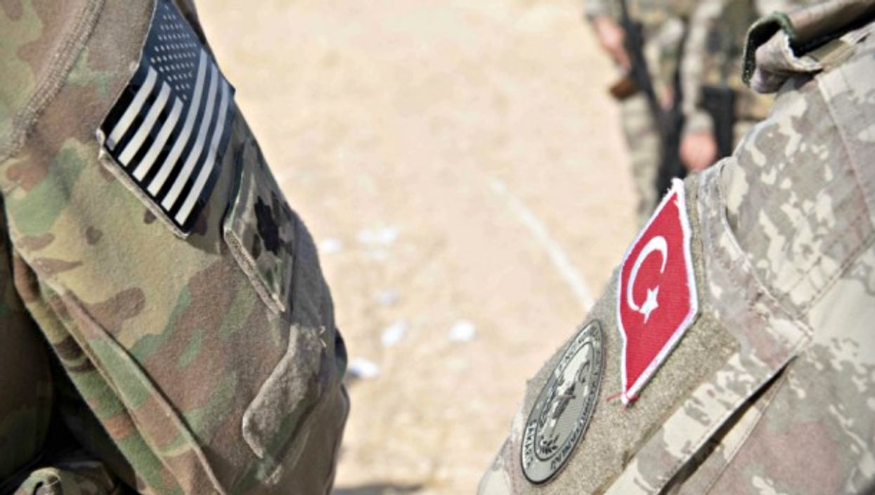 U.S. and Turkish soldiers in northern Syria on Oct. 7