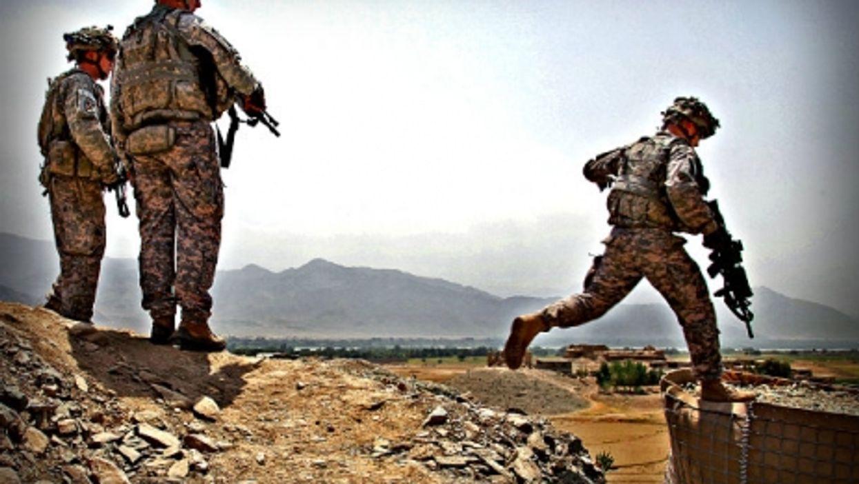 U.S. army soldiers in Afghanistan in 2009