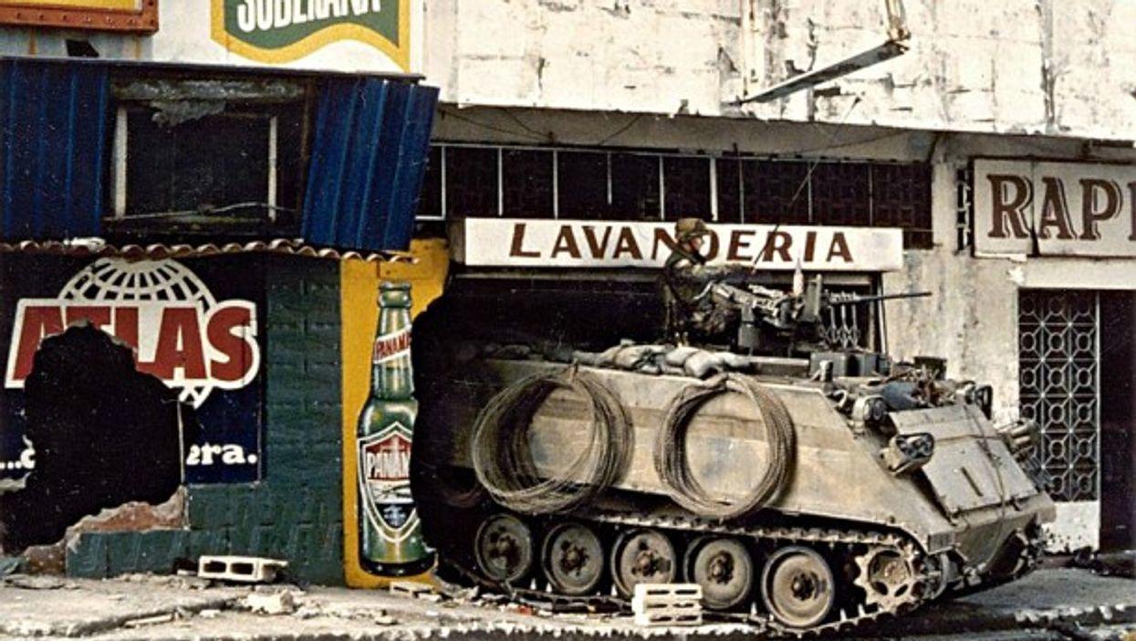 U.S. Army tank in Panama in 1989