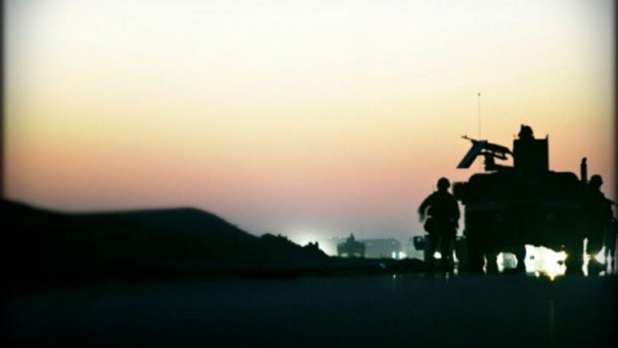 U.S. Marines near Fallujah, Iraq