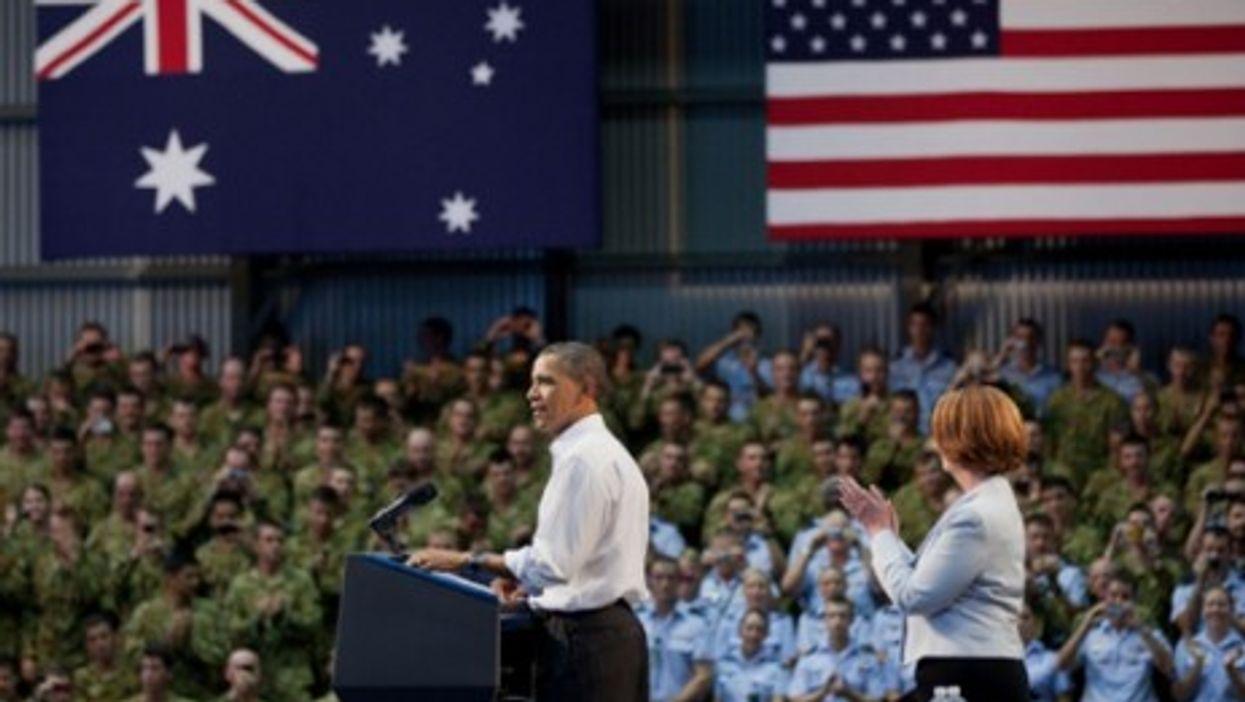 U.S. President Barack Obama at the Royal Army Air Force Base in Darwin, Australia (Nov. 17, 2011)