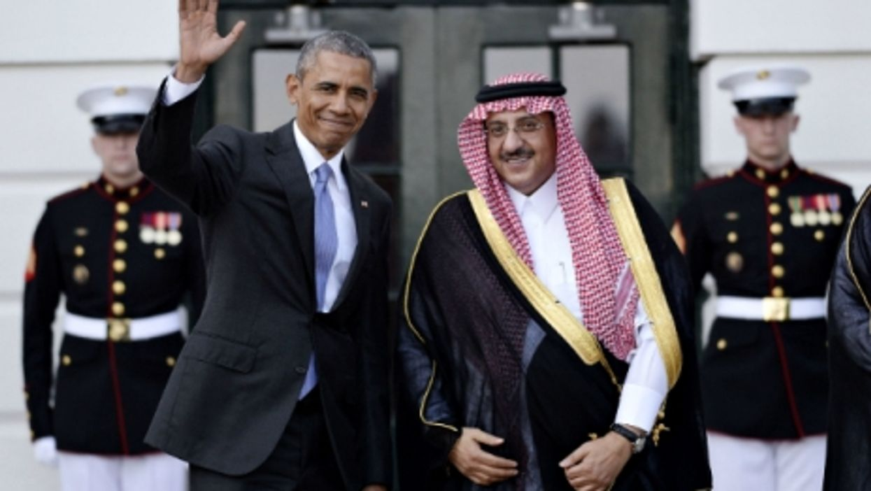 U.S. President Barack Obama with Saudi Crown Prince Muhammad bin Nayef at the White House in May 2015