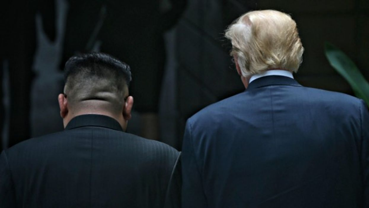 U.S. President Donald J. Trump and North Korean leader Kim Jong-Un after their luncheon meeting in Singapore on June, 11