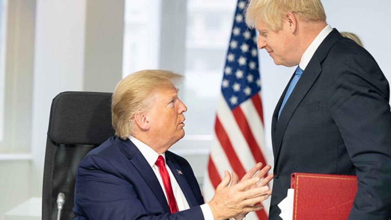 U.S. President Donald Trump meeting UK Prime Minister Boris Johnson during G7 Summit in Biarritz, France