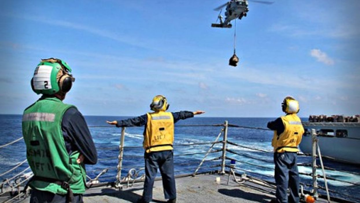 U.S. sailors looking for Malaysia Airlines Flight 370 in the Andaman Sea on March 17