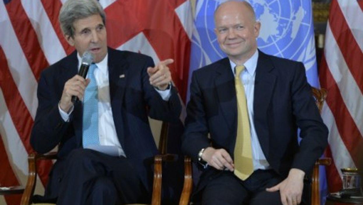 U.S. Secretary of State John Kerry and British Foreign Secretary William Hague