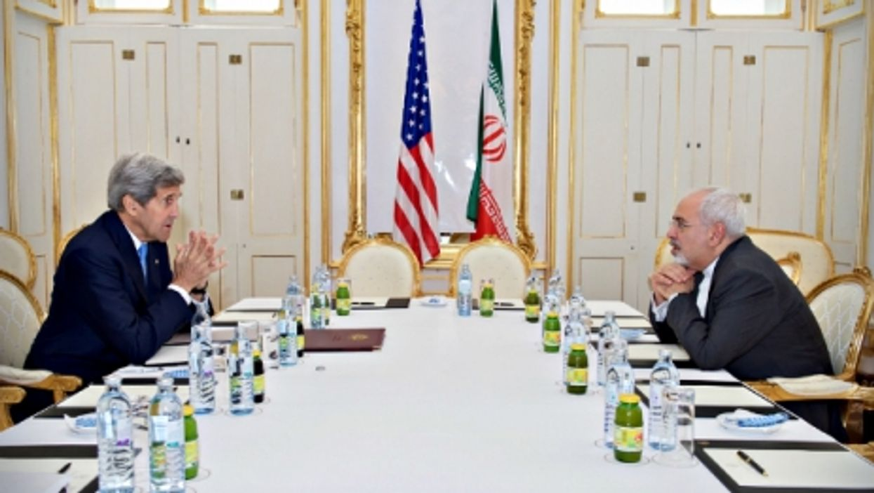 U.S. Secretary of State John Kerry and Iranian Foreign Minister Javad Zarif on June 30