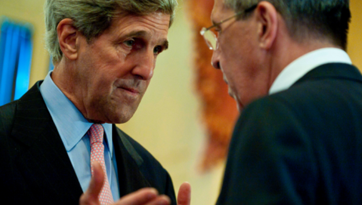 U.S. Secretary of State John Kerry and Russian counterpart Foreign Minister Sergey Lavrov