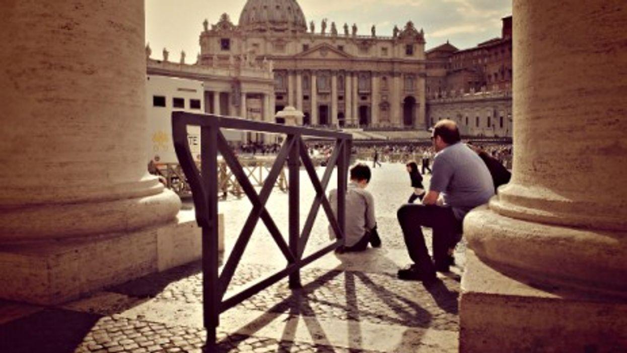Under St. Peter's colonnade