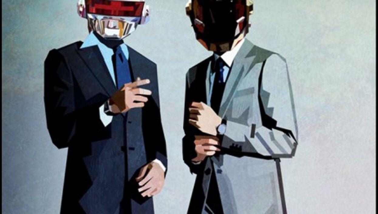Under the helmets, Thomas Bangalter (left) and Guy-Manuel de Homem-Christo (right)