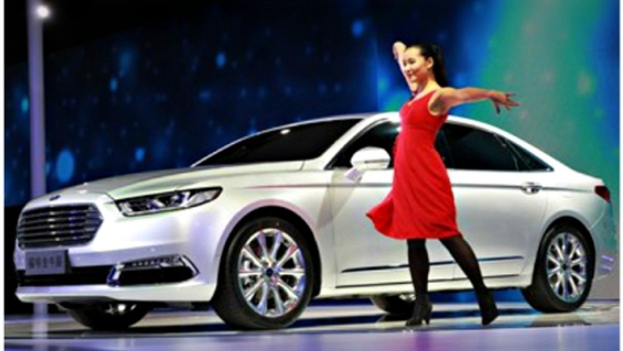 Unveiling the new Ford Taurus at Auto Shanghai 2015
