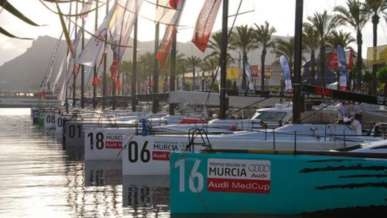 Using sailboats to push cars. Audi Med Cup Circuit 2008