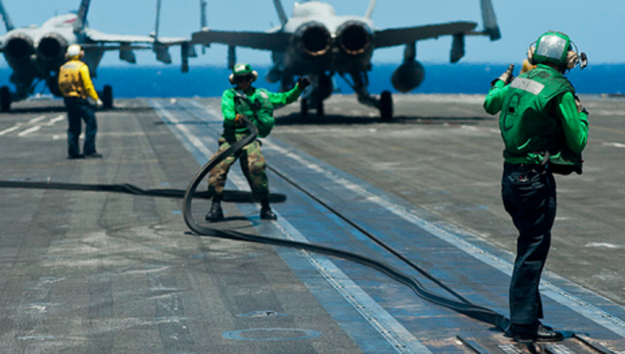 USS John C. Stennis before its deployment last year to the Middle East