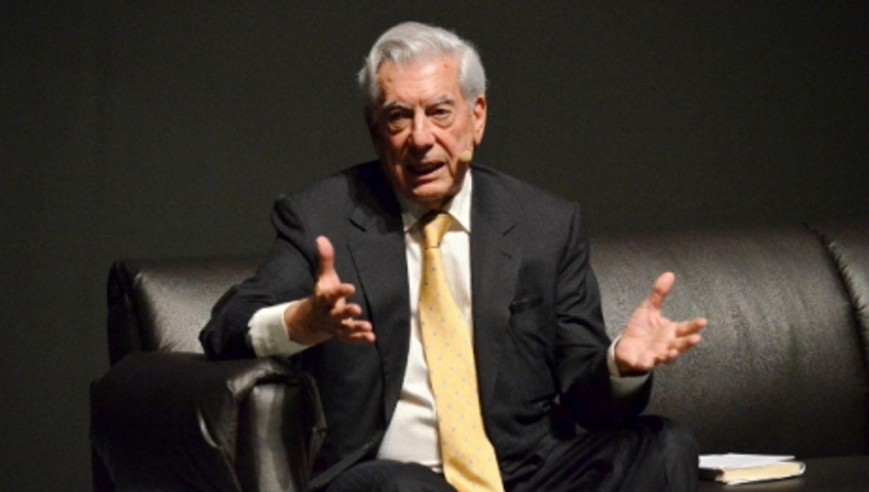 Vargas Llosa in April 2015.