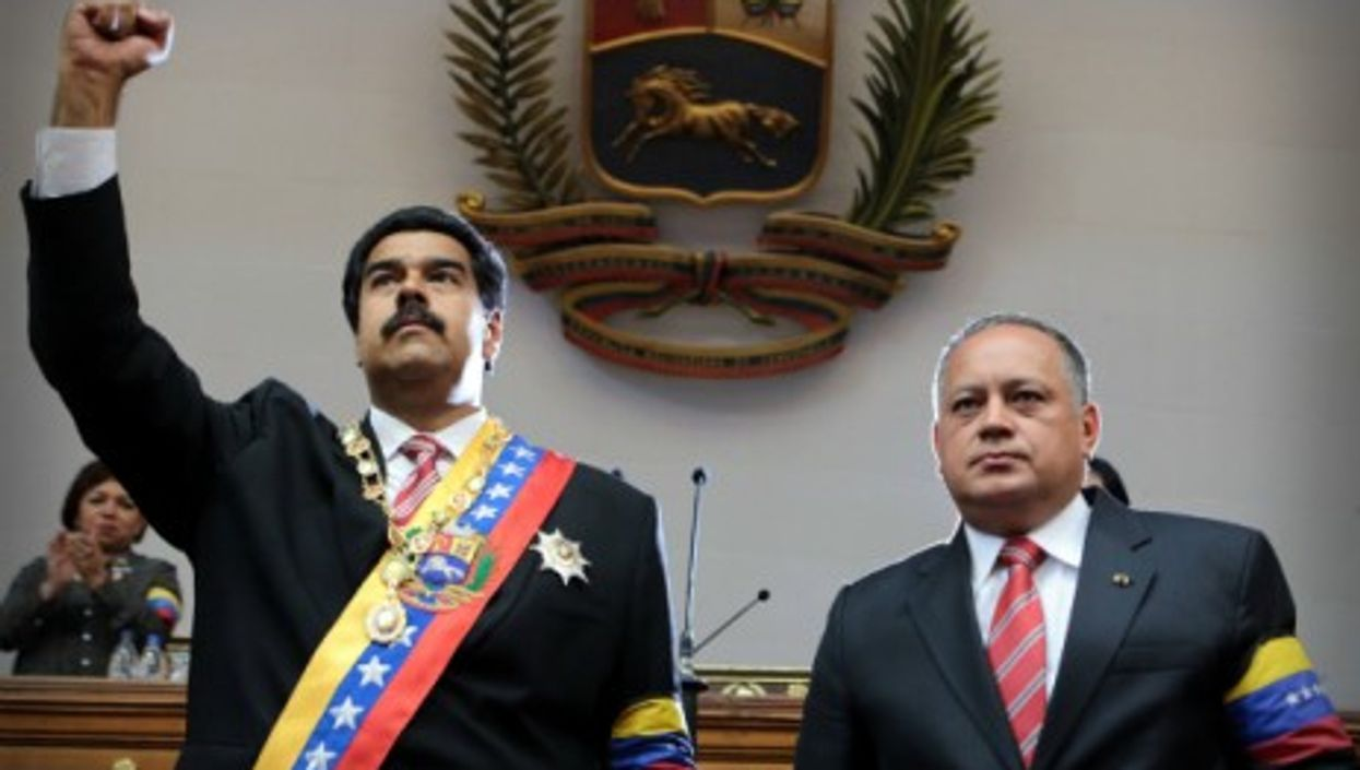 Venezuela President Nicolas Maduro and President of the National Assembly Diosdado Cabello in Caracas