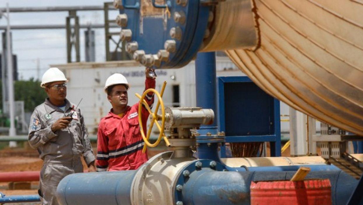 Venezuelan petroleum workers producing oil for China