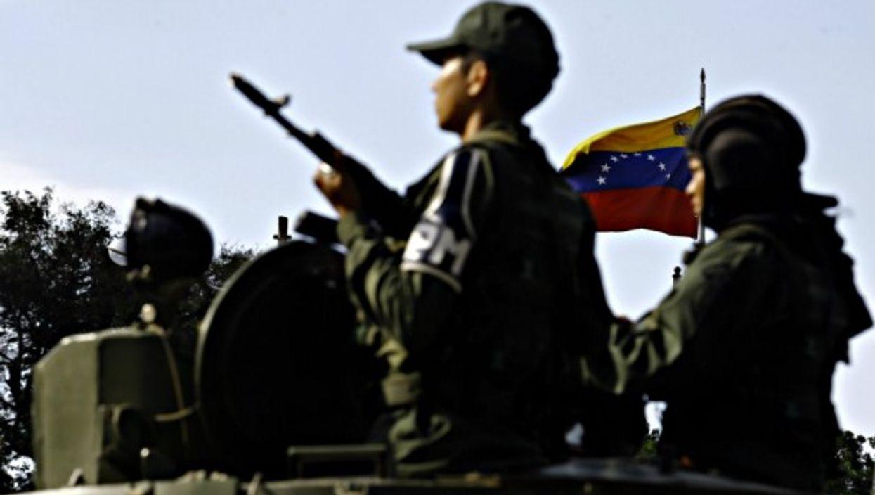 Venezuelan troops last month in Valencia Carabobo