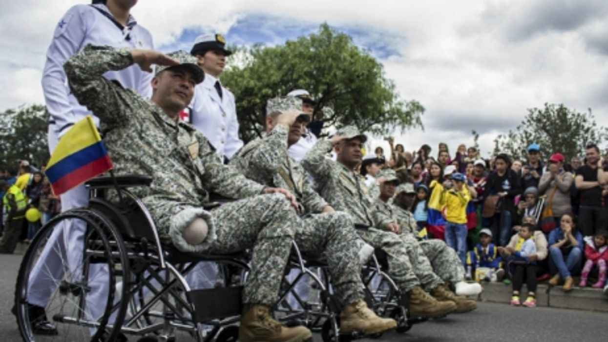 Veterans at Colombia Independence Day celebration