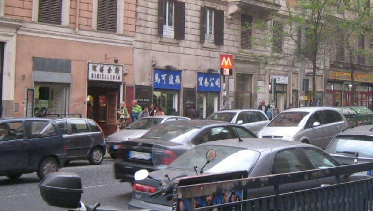 Via Carlo Alberto in Rome's Chinatown
