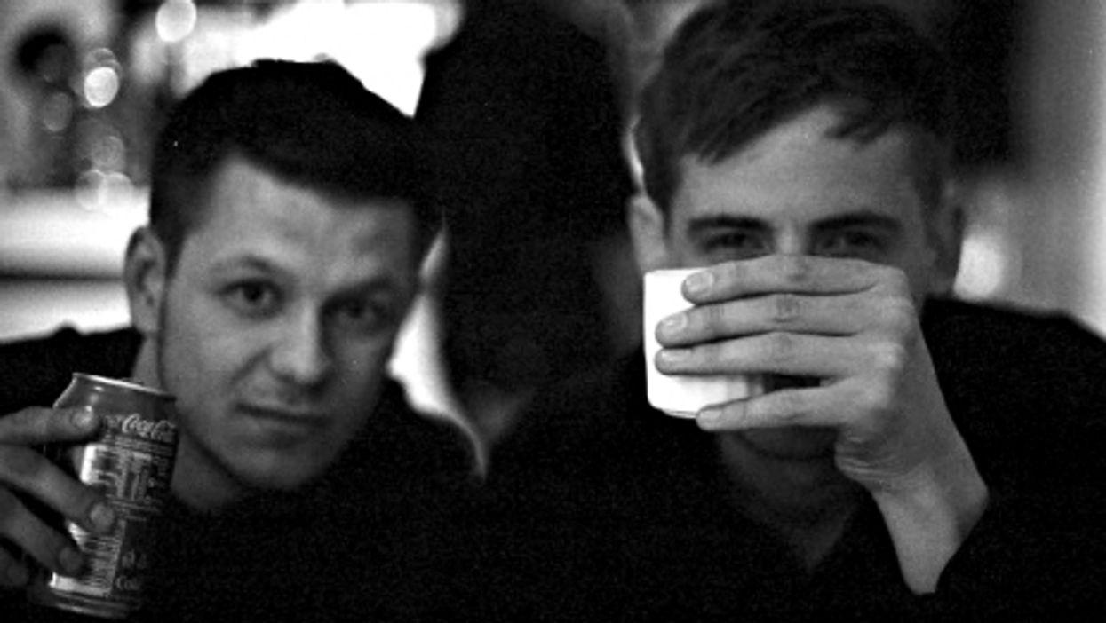 VICE News correspondent Jake Hanrahan and cameraman Philip Pendlebury