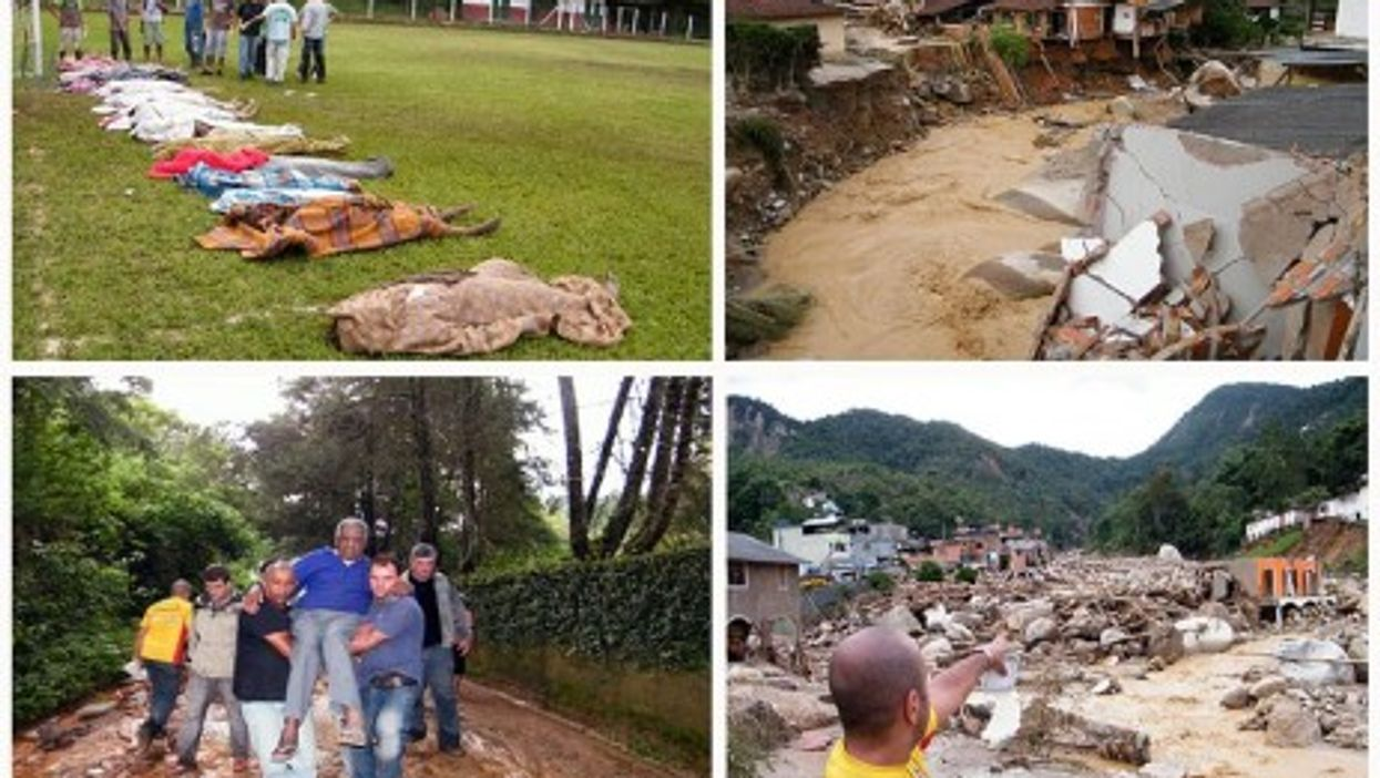 Victims of the 2011 landslide in the State of Rio de Janeiro
