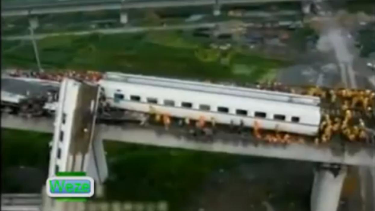 Video image of crash