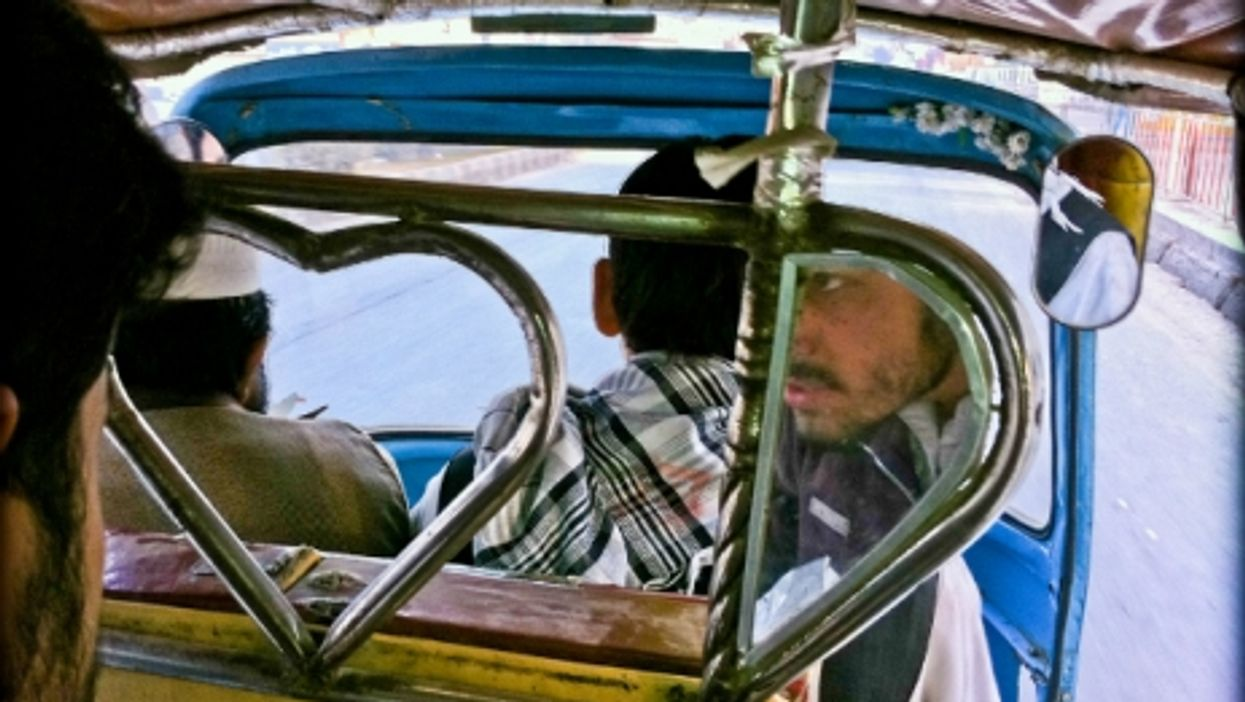 View from inside a tuk-tuk in Jalalabad, Afghanistan