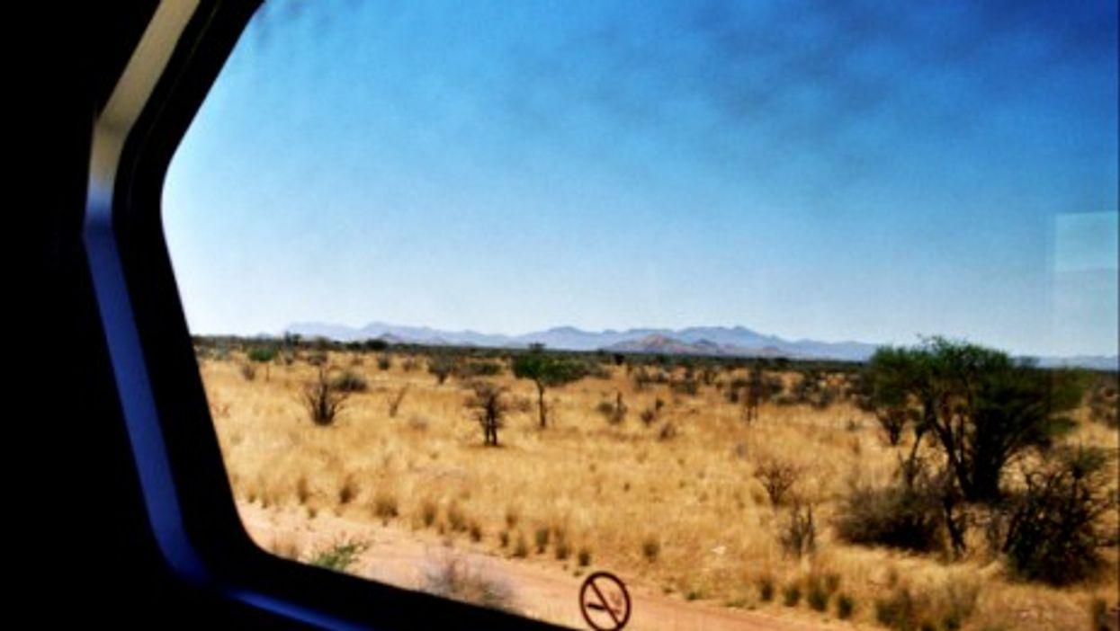 View from the Desert Express, approaching Karibib, Namibia.