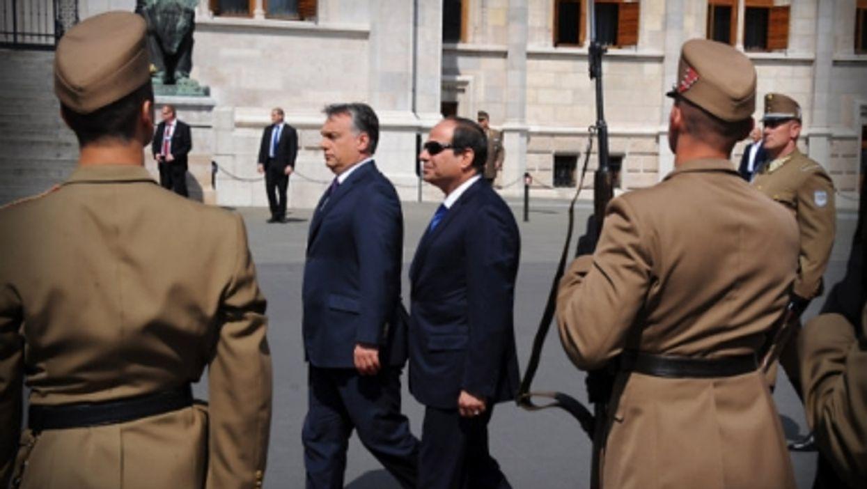 Viktor Orban and al Sisi in Budapest