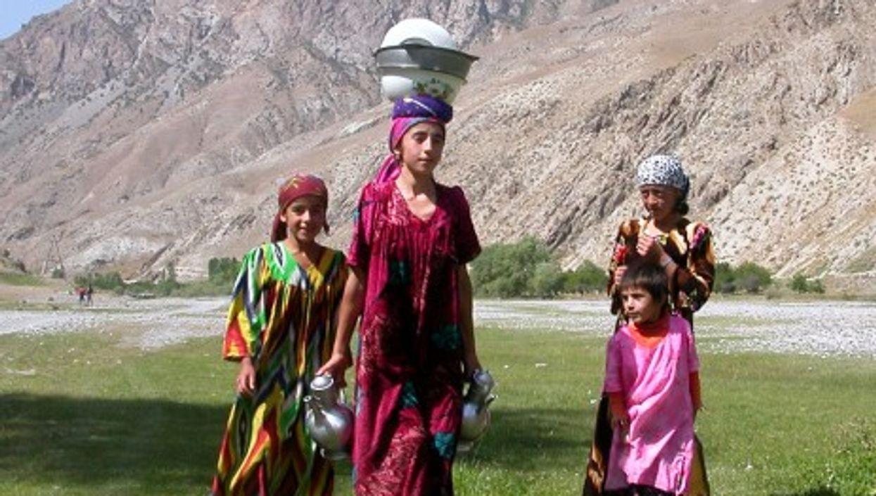 Villagers in Tajikistan's Fann Mountains