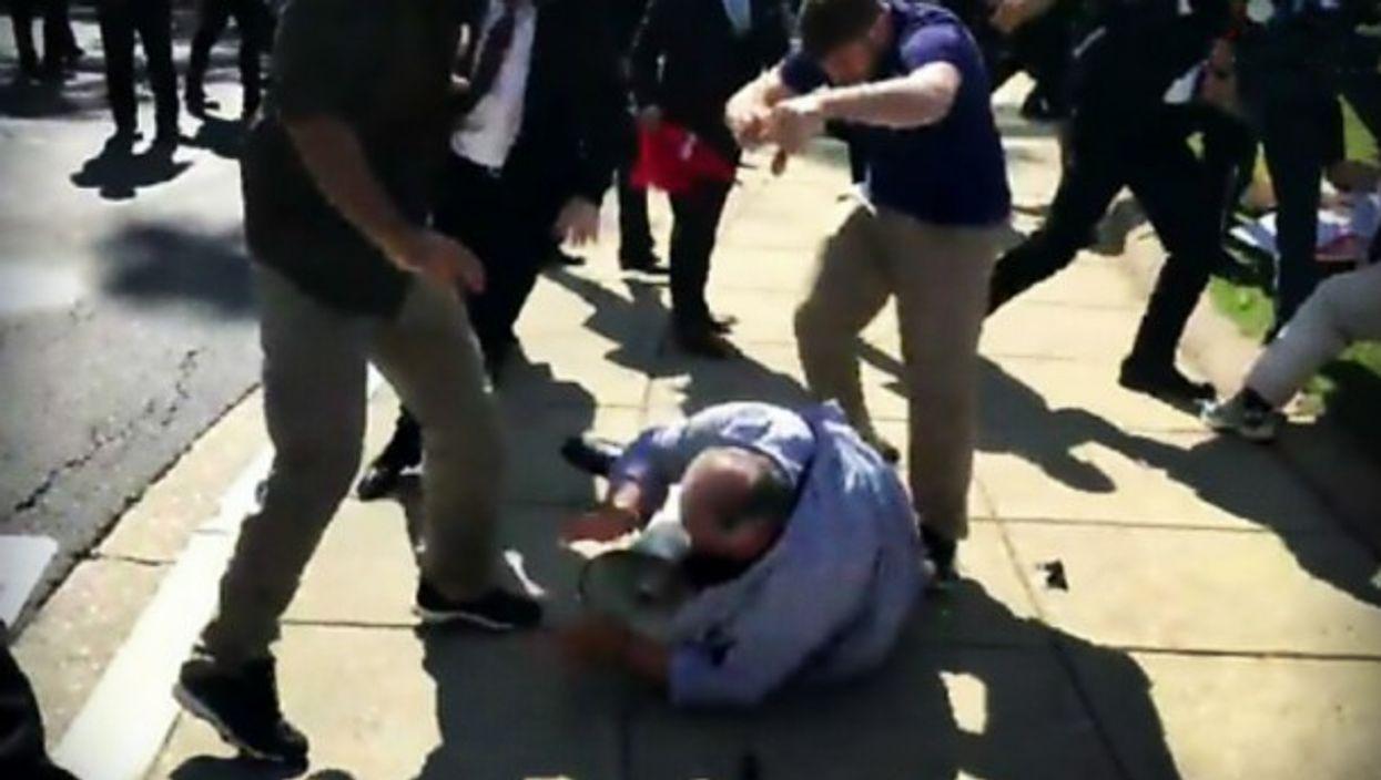 Violence breaks out in Washington during Erdogan's visit