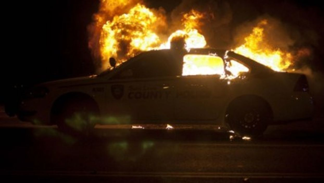 Violence in Ferguson early Tuesday