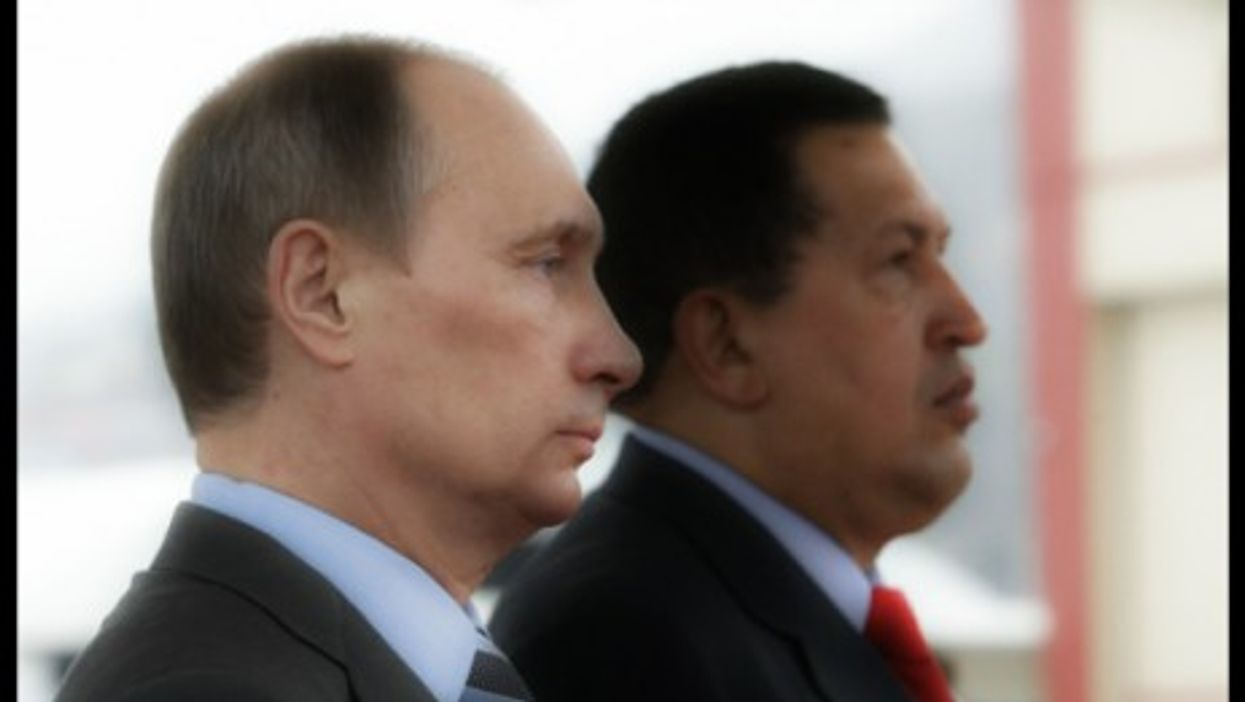 Vladimir Putin and Hugo Chavez in 2010