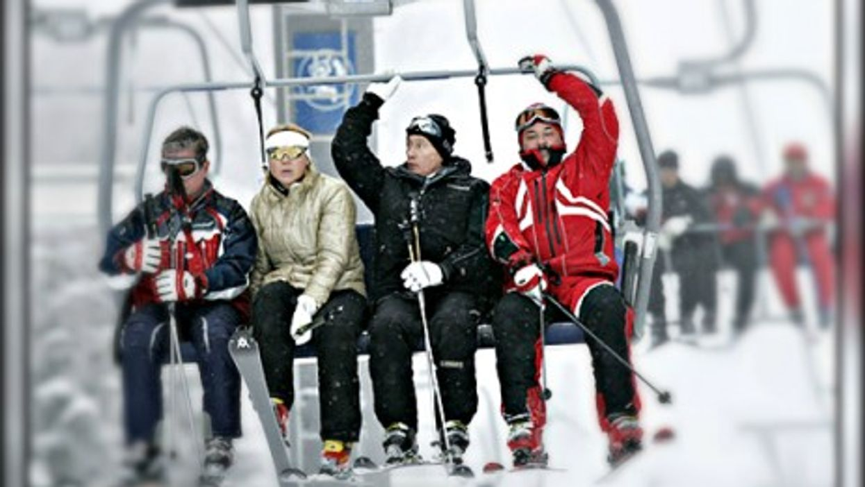 Vladimir Putin at the Krasnaya Polyana ski resort