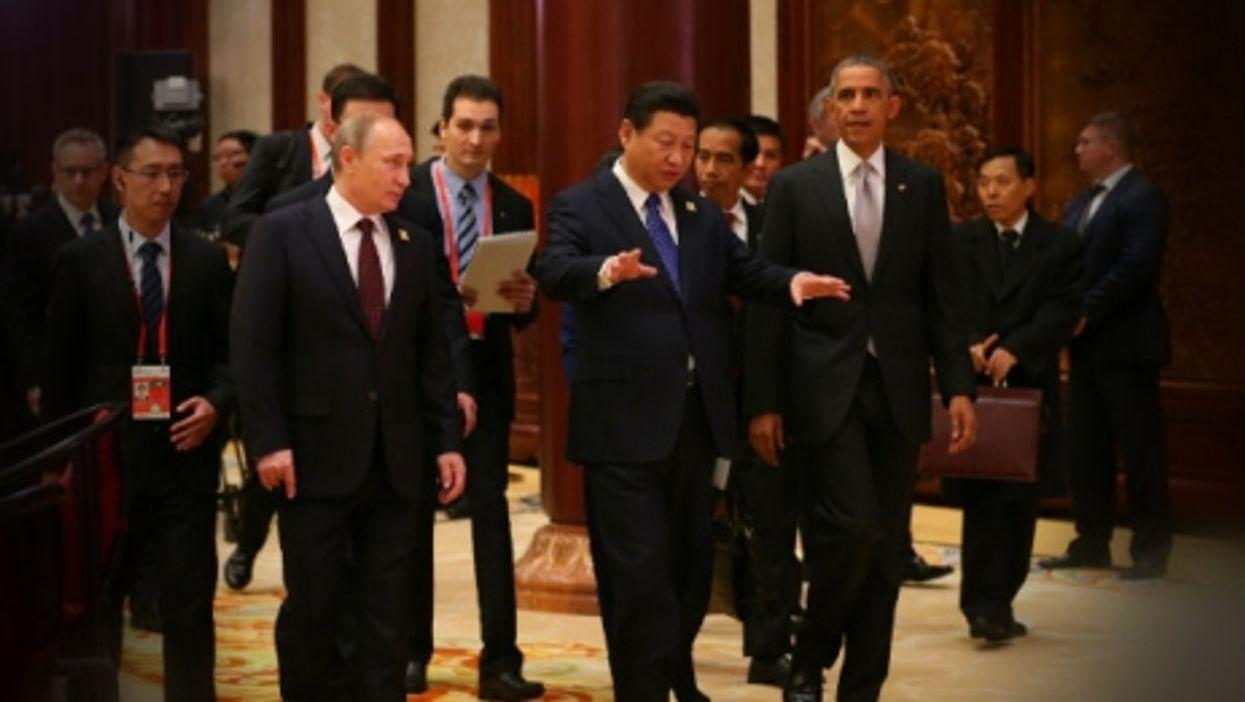 Vladimir Putin, Xi Jinping, Barack Obama in 2014
