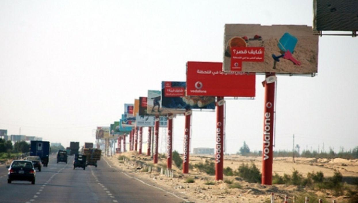 Vodafone billboards in Egypt.