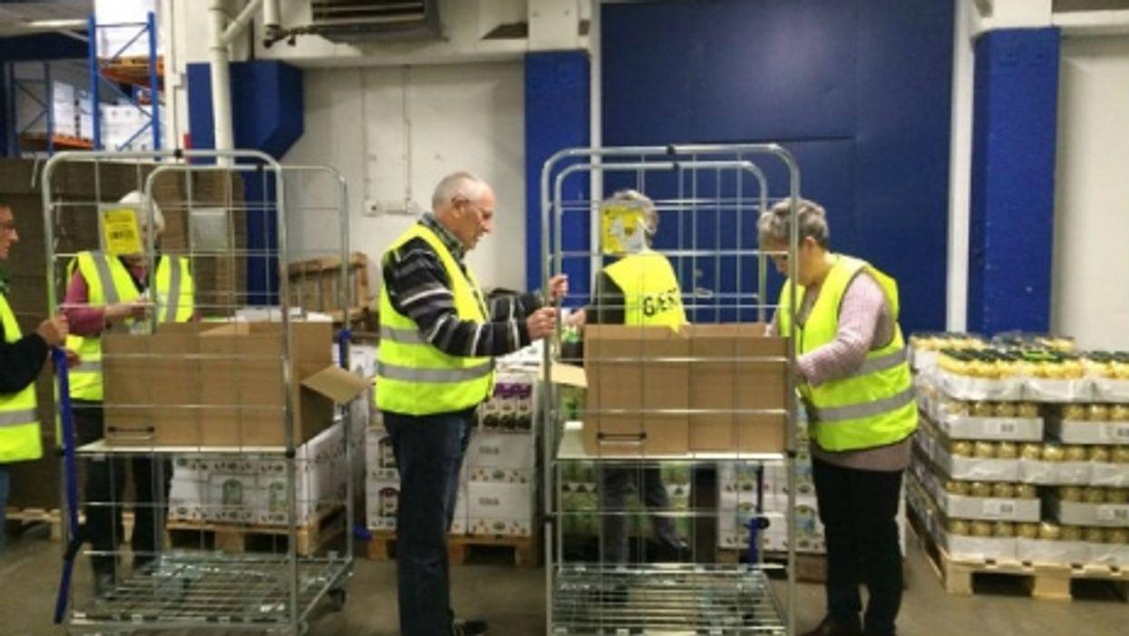 Volunteers at a Danish market that seeks to eliminate food waste