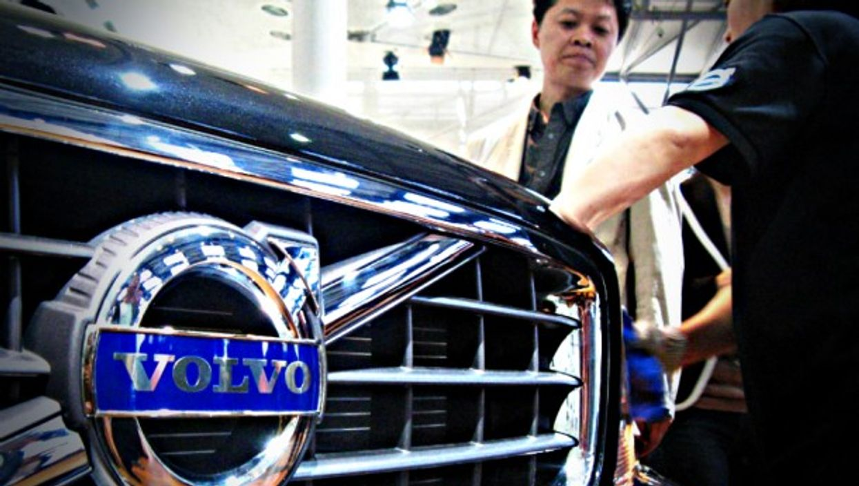 Volvo vehicle at an auto show in Shanghai