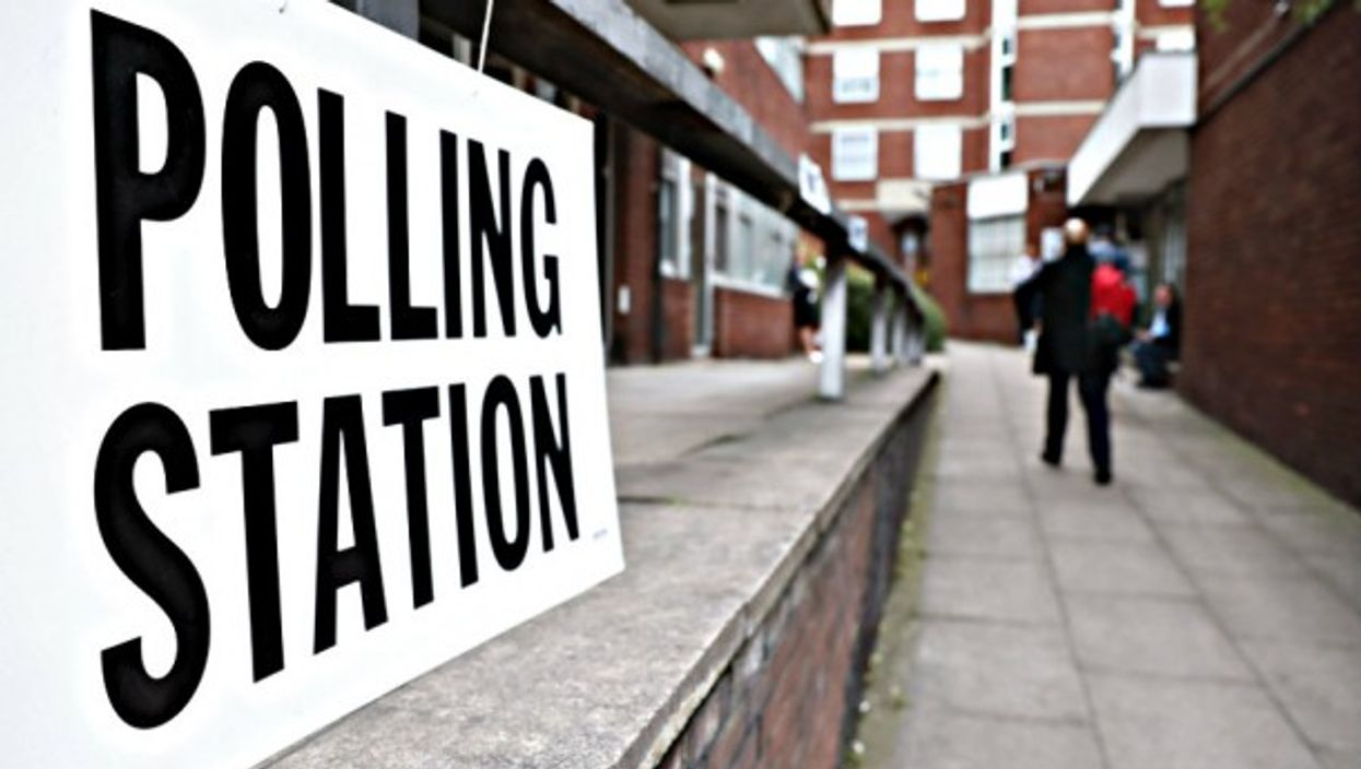 Voters head to the polls in London on Thursday.