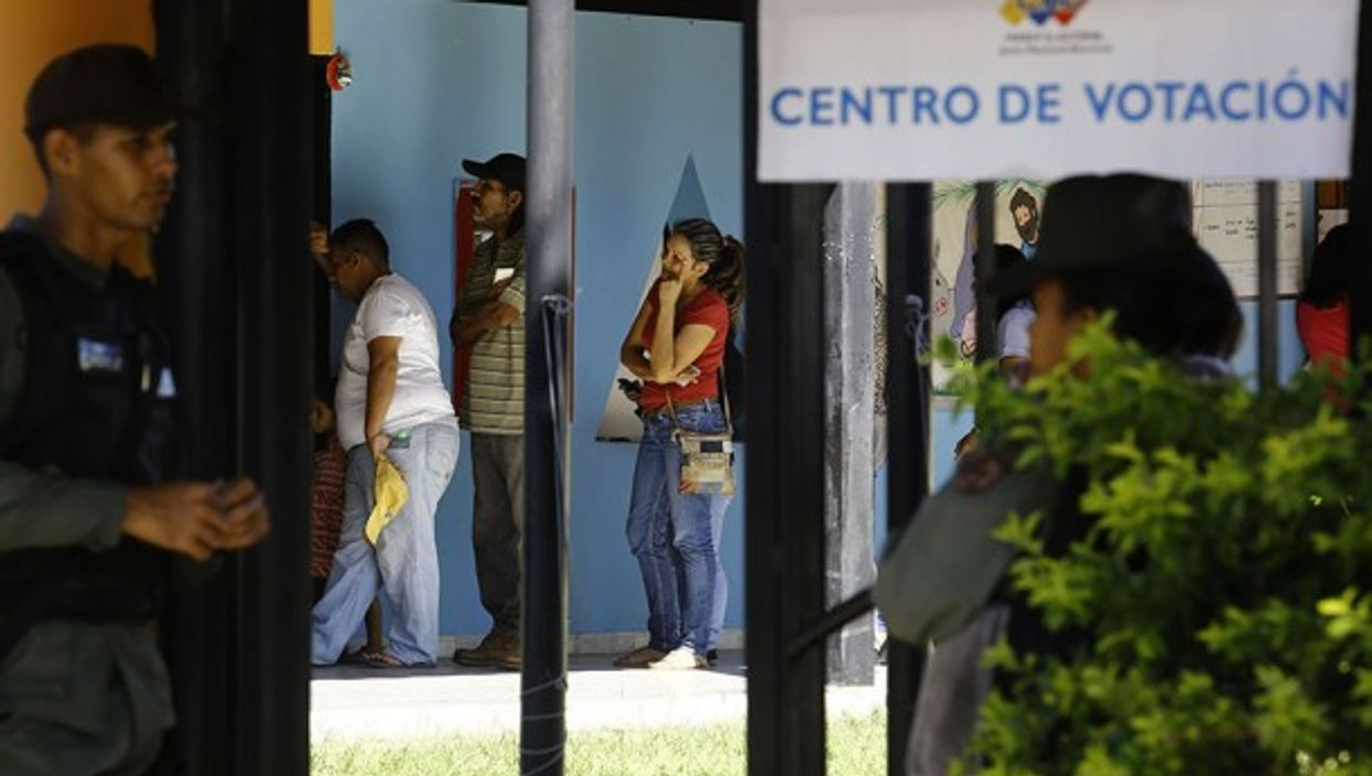 Voting centers in the San Diego municipality, in Venezuela, during the elections of councilmen for the municipal councils of each state