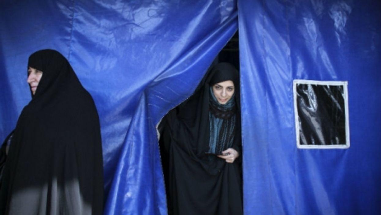 Voting day in Qom, Iran