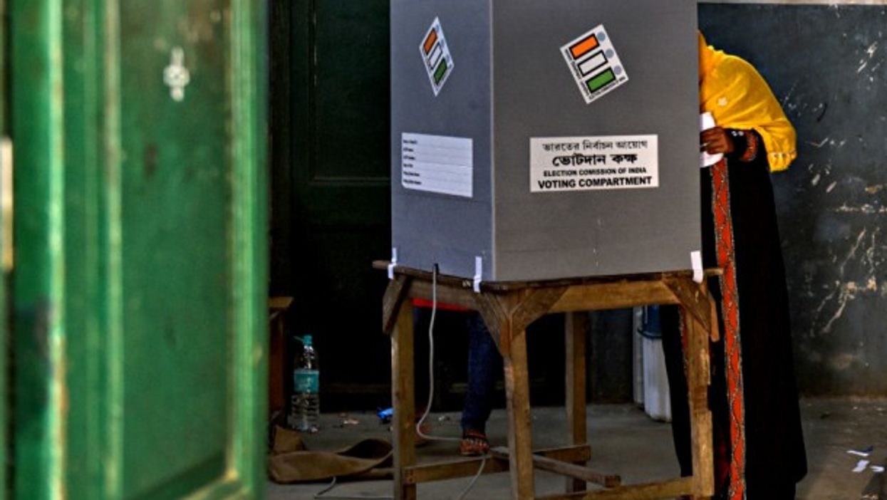 Voting in Barrackpore, India, on May 6