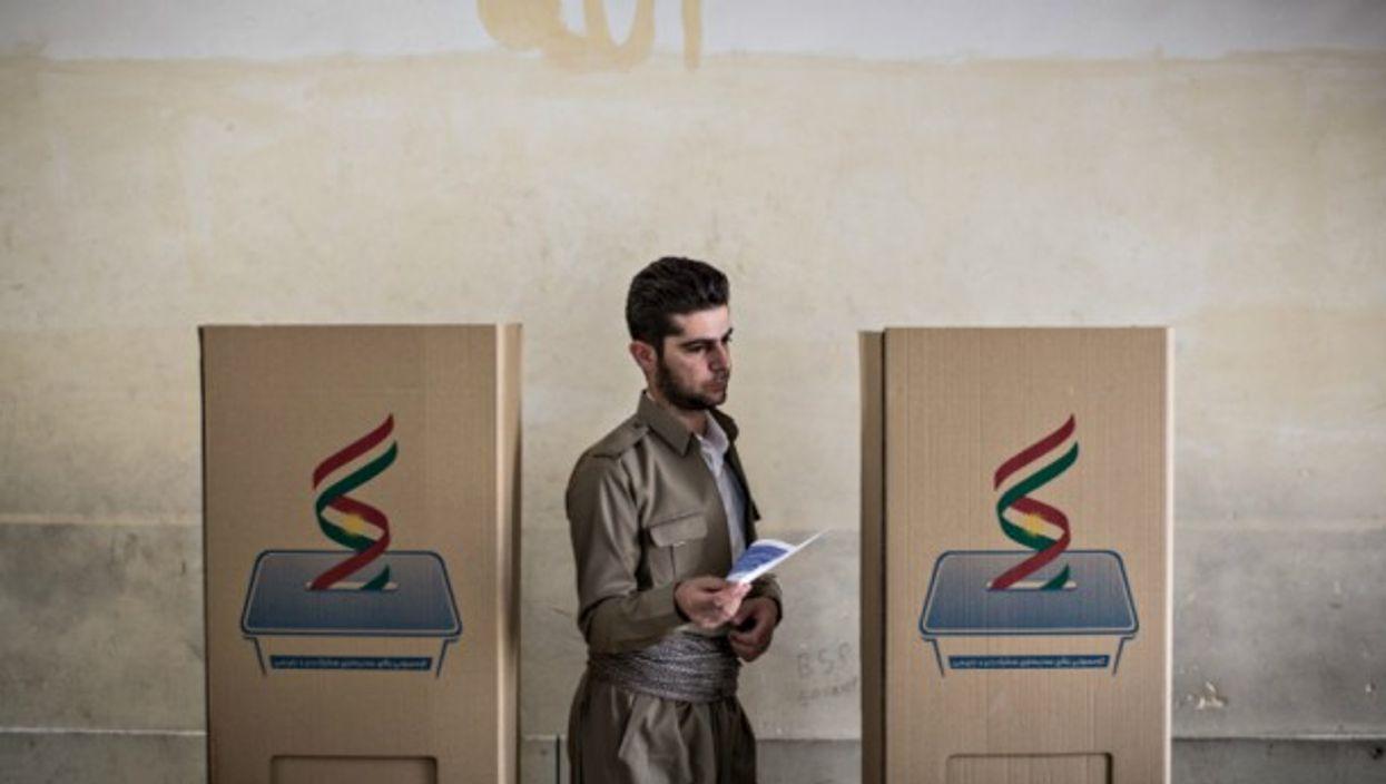Voting in Erbil on Sept. 245